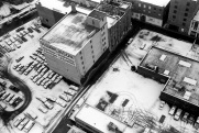 aerial view, Toronto, winter,
